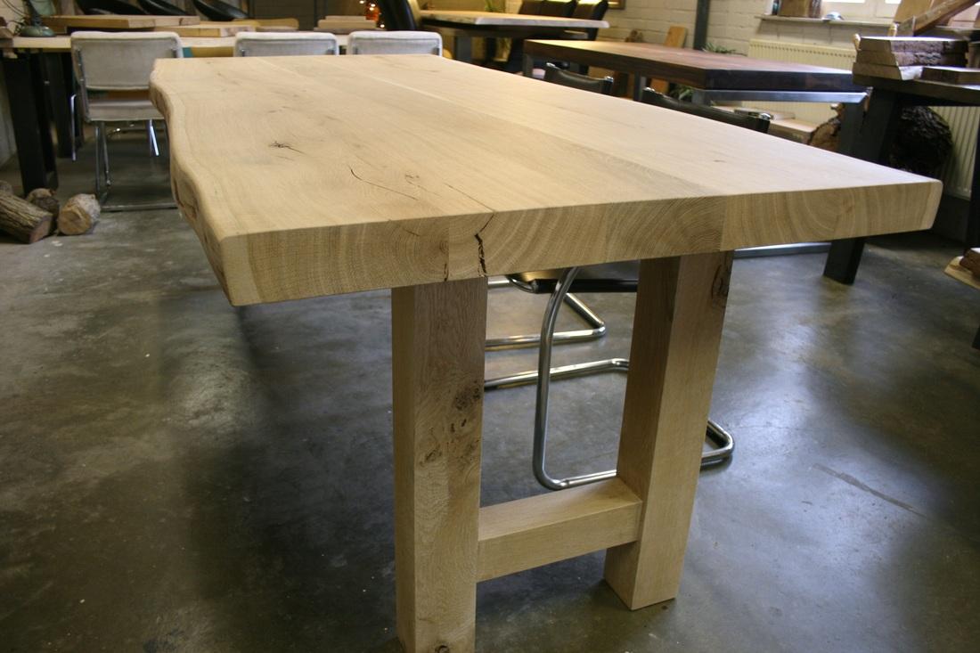 Eiken tafel houten tafelpoten